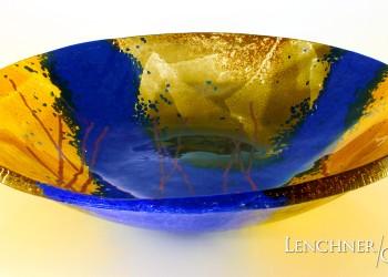 Cobalt Bowl - Lenchner Glass